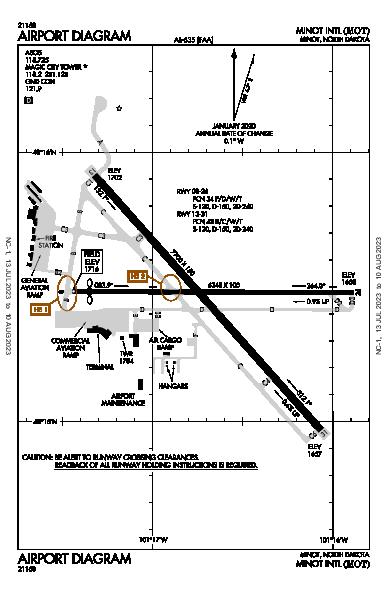 Minot Intl Airport (Minot, ND): KMOT Airport Diagram