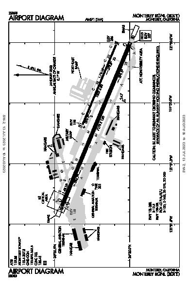 Monterey Rgnl Airport (Monterey, CA): KMRY Airport Diagram