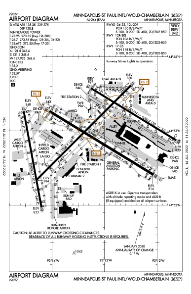 Int'l de Minneapolis-Saint Paul Airport (Minneapolis, MN): KMSP Airport Diagram