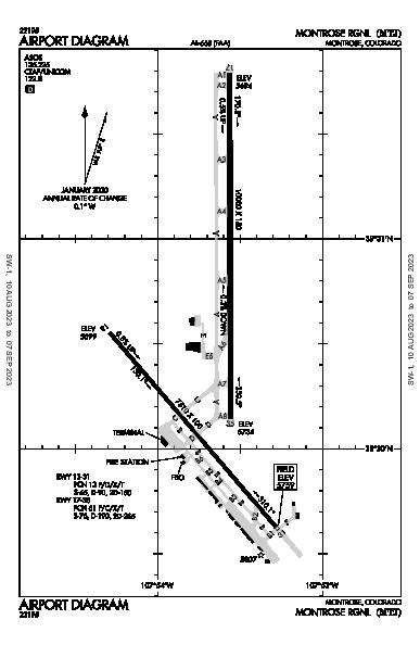 Montrose Rgnl Airport (Montrose, CO): KMTJ Airport Diagram