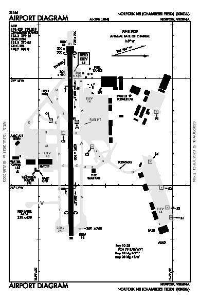 Norfolk Ns (Chambers Fld) Airport (Norfolk, VA): KNGU Airport Diagram