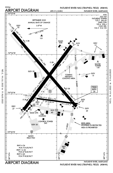 Patuxent River Airport (Patuxent River, MD): KNHK Airport Diagram
