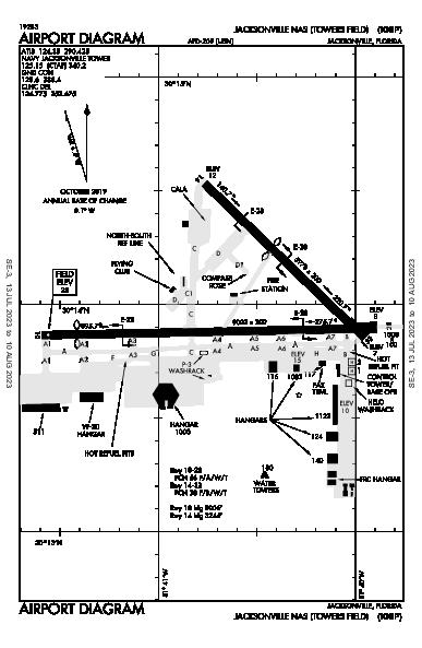Jacksonville Airport (Jacksonville, FL): KNIP Airport Diagram