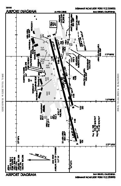 Miramar Mcas (Joe Foss Fld) Airport (San Diego, CA): KNKX Airport Diagram