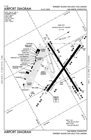 Whidbey Island Airport (Oak Harbor, WA): KNUW Airport Diagram