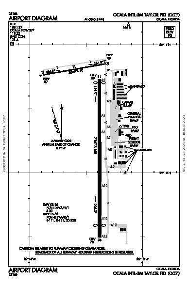 Ocala Intl Airport (Ocala, FL): KOCF Airport Diagram