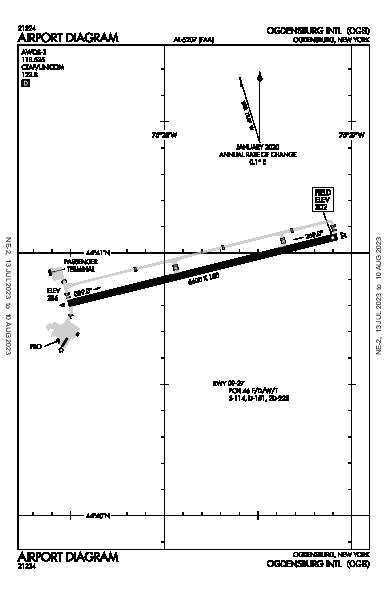 Ogdensburg Intl Airport (Ogdensburg, NY): KOGS Airport Diagram