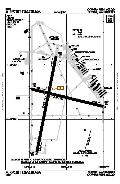 Olympia Rgnl Airport (Olympia, WA): KOLM Airport Diagram