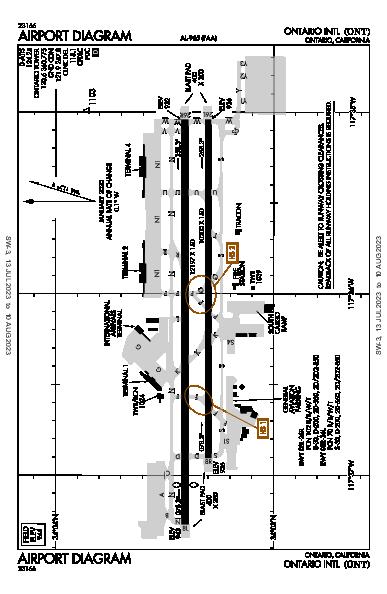 Ontario Intl Airport (Ontario, CA): KONT Airport Diagram