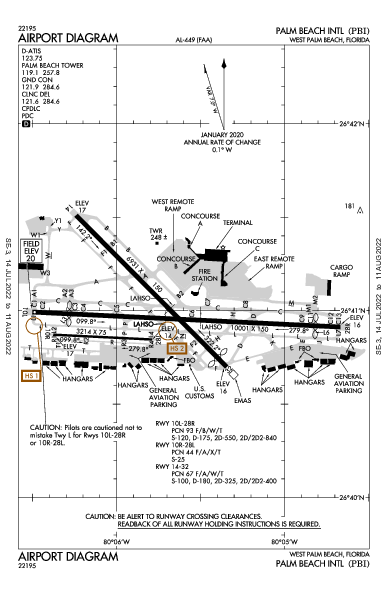 Palm Beach Intl Airport (West Palm Beach, FL): KPBI Airport Diagram
