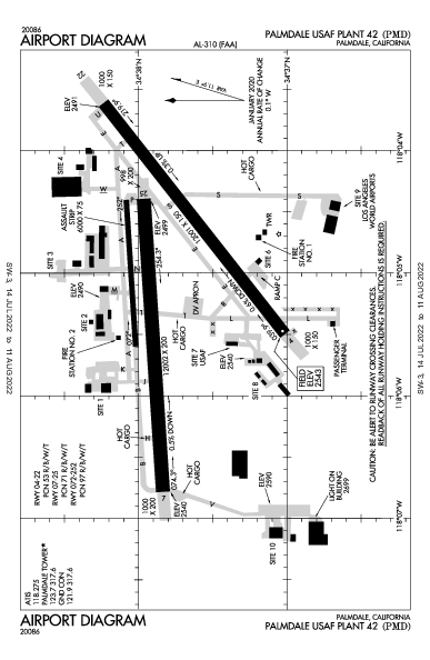 Palmdale Regional  Airport (Palmdale, CA): KPMD Airport Diagram