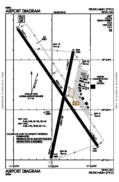 Provo Muni Airport (Provo, UT): KPVU Airport Diagram