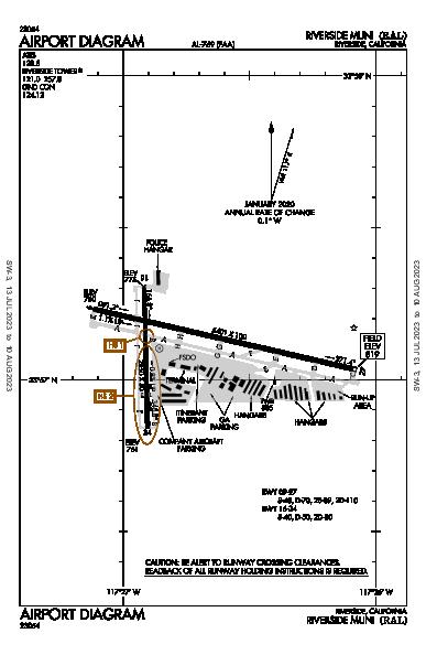 Riverside Muni Airport (Riverside, CA): KRAL Airport Diagram