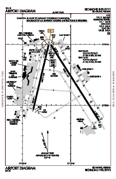 Richmond Intl Airport (Richmond, VA): KRIC Airport Diagram