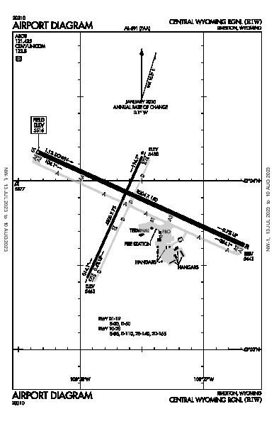 Riverton Rgnl Airport (Riverton, WY): KRIW Airport Diagram