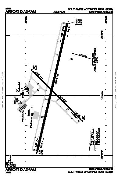 Southwest Wyoming Regional Airport (Rock Springs, WY): KRKS Airport Diagram