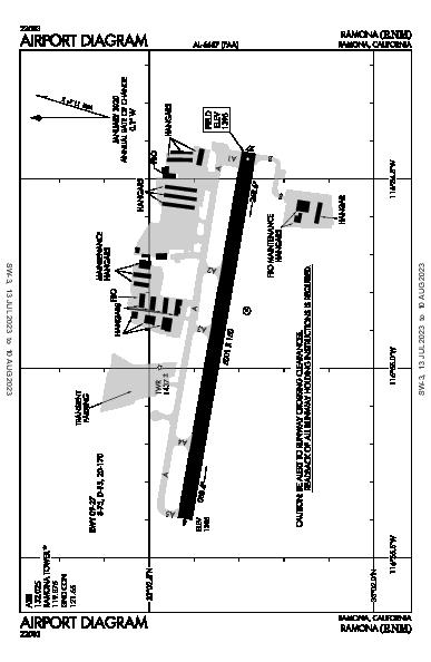 Ramona Airport (Ramona, CA): KRNM Airport Diagram