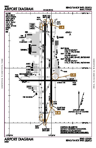 Reno/Tahoe Intl Airport (Reno, NV): KRNO Airport Diagram