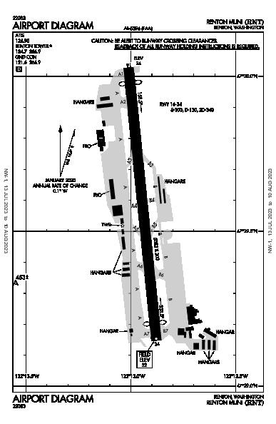 Renton Muni Airport (Renton, WA): KRNT Airport Diagram