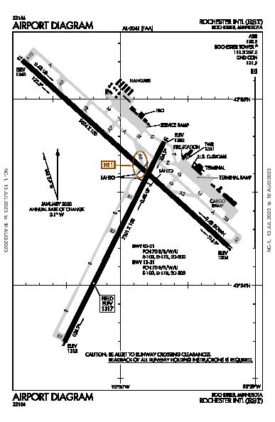 Rochester Intl Airport (Rochester, MN): KRST Airport Diagram