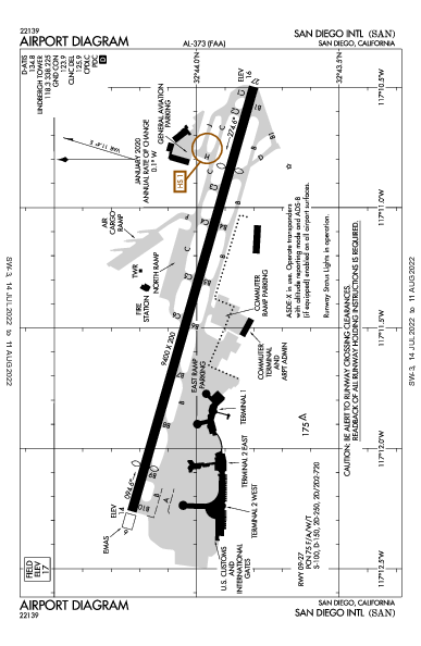 San Diego Intl Airport (San Diego, CA): KSAN Airport Diagram
