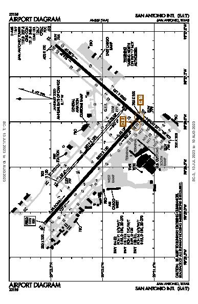 San Antonio Intl Airport (San Antonio, TX): KSAT Airport Diagram