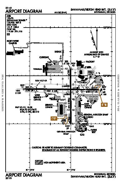 Savannah/Hilton Head Intl Airport (Savannah, GA): KSAV Airport Diagram