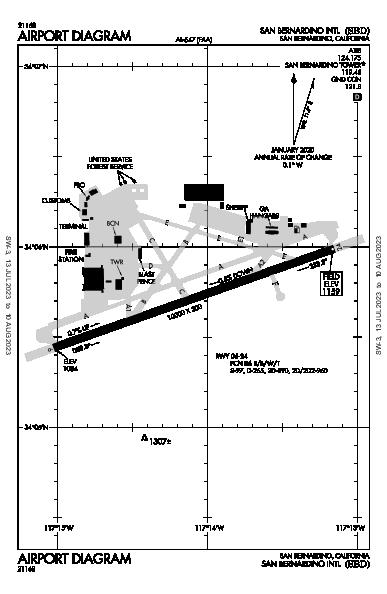 San Bernardino Intl Airport (San Bernardino, CA): KSBD Airport Diagram