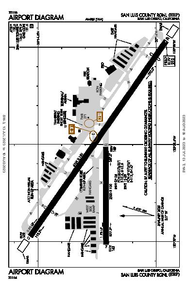 San Luis County Rgnl Airport (San Luis Obispo, CA): KSBP Airport Diagram
