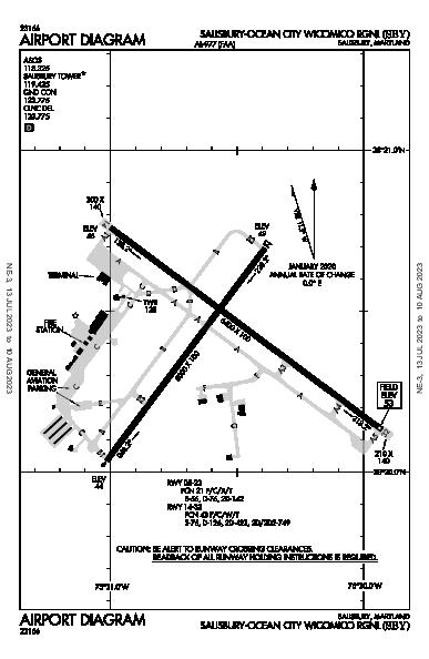 Salisbury Rgnl Airport (Salisbury, MD): KSBY Airport Diagram