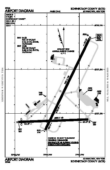 Schenectady County Airport (Schenectady, NY): KSCH Airport Diagram