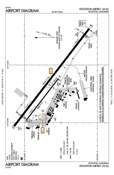 Stockton Metropolitan Airport (Stockton, CA): KSCK Airport Diagram