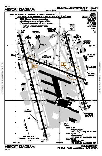 Int'l di Louisville Airport (Louisville, KY): KSDF Airport Diagram