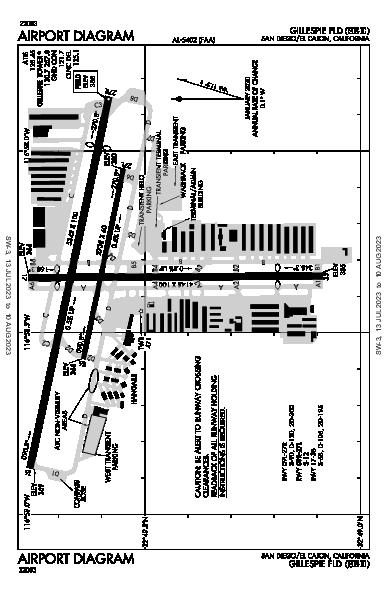Gillespie Field Airport (San Diego/El Cajon, CA): KSEE Airport Diagram
