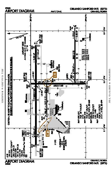 Orlando Sanford Intl Airport (Orlando, FL): KSFB Airport Diagram