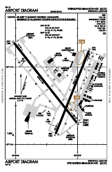 Springfield Airport (Springfield, MO): KSGF Airport Diagram