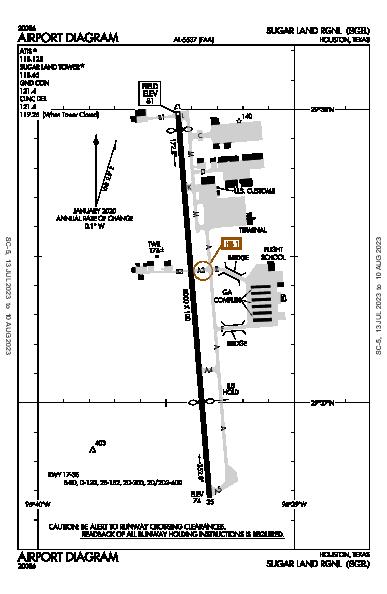 Sugar Land Rgnl Airport (Houston, TX): KSGR Airport Diagram