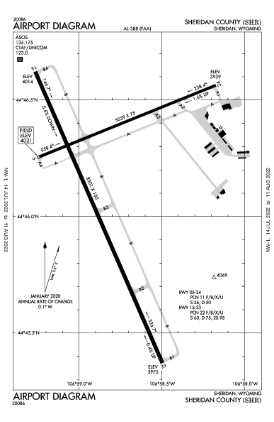 Sheridan County Airport (Sheridan, WY): KSHR Airport Diagram