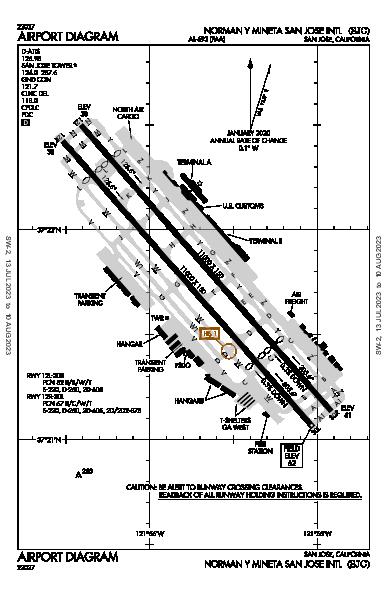 San Jose Int'l Airport (San Jose, CA): KSJC Airport Diagram