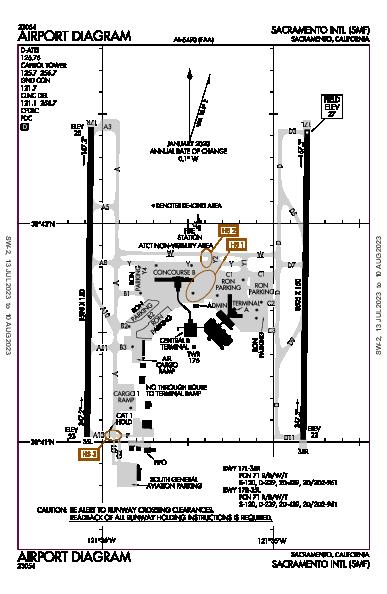 Sacramento Intl Airport (Sacramento, CA): KSMF Airport Diagram