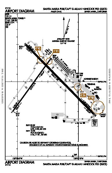Santa Maria Pub Airport (Santa Maria, CA): KSMX Airport Diagram