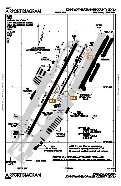 John Wayne Airport (Santa Ana, CA): KSNA Airport Diagram