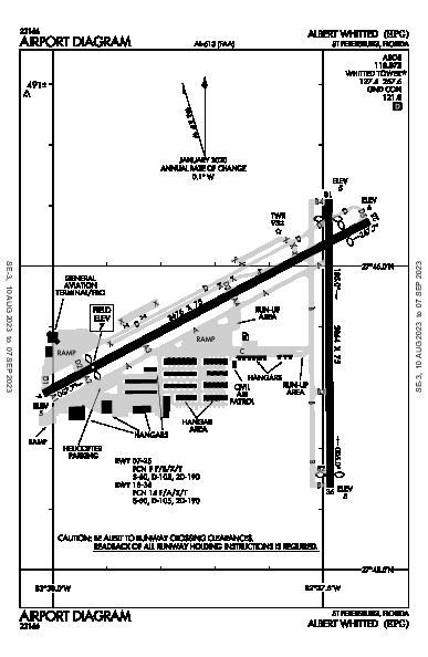 Albert Whitted Airport (St Petersburg, FL): KSPG Airport Diagram