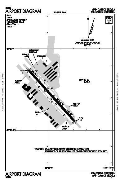 San Carlos Airport (San Carlos, CA): KSQL Airport Diagram