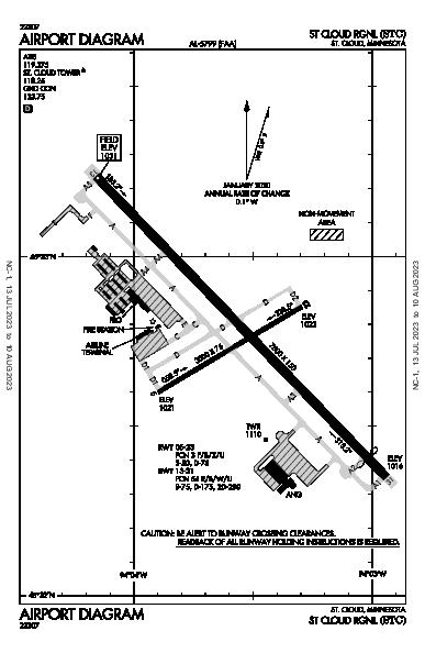 St Cloud Rgnl Airport (St Cloud, MN): KSTC Airport Diagram