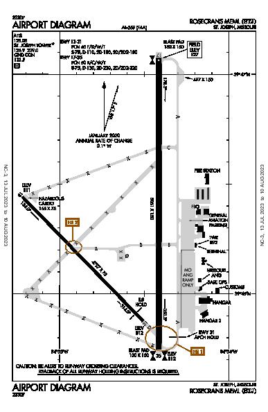 Rosecrans Meml Airport (St Joseph, MO): KSTJ Airport Diagram