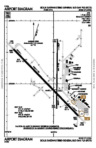 Sioux Gateway Airport (Sioux City, IA): KSUX Airport Diagram