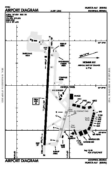 Hunter Aaf Airport (Savannah, GA): KSVN Airport Diagram