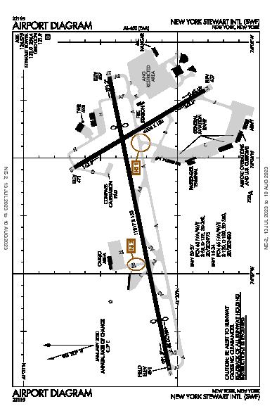 Stewart Intl Airport (Newburgh, NY): KSWF Airport Diagram