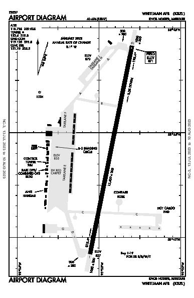 Whiteman Afb Airport (Knob Noster, MO): KSZL Airport Diagram